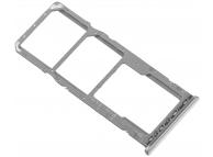 Suport Card - Suport SIM 1 / 2 Argintiu Samsung Galaxy A50 A505 Dual SIM
