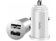 Incarcator Auto USB Totu Design Jane DCCD-014 Mini, 2 X USB, Alb, Blister