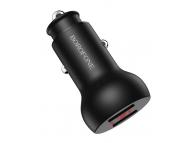 Incarcator Auto USB Borofone BZ9A, Afisaj LED, Fast Charging 3.1A, 2 X USB, Negru, Blister