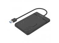 Carcasa externa HDD 2.5 inch SATA Unitek USB 3.0 cu cablu 30 cm, Neagra,Blister
