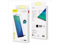 Folie Protectie Ecran Baseus pentru Samsung Galaxy S10+ G975, Plastic, Full Cover, Set 2buc, 3D Anti-Blue Light, 0.15mm, Neagra, Blister SGSAS10P-KS01