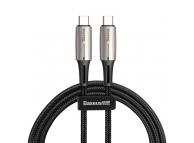 Cablu Date Si Incarcare USB Type-C La USB Type-C Baseus Woven, QC 3.0, 1 M, Negru, Blister CATSD-J01