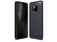 Husa TPU OEM Carbon pentru Samsung Galaxy A70 A705, Bleumarin, Blister