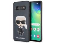 Husa Plastic - TPU Karl Lagerfeld Ikonik Full Body pentru Samsung Galaxy S10 G973, Bleumarin, Blister KLHCS10IKPUBL