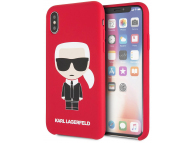 Husa TPU Karl Lagerfeld Ikonik Full Body pentru Apple iPhone X / Apple iPhone XS, Rosie KLHCPXSLFKRE
