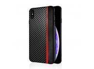 Husa Piele - TPU OEM Carbon Mulsae pentru Apple iPhone 7 / Apple iPhone 8, Neagra, Blister