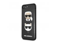 Husa Piele - Poliuretan Karl Lagerfeld pentru Apple iPhone 7 Plus / Apple iPhone 8 Plus, Karl & Choupette, Neagra, Blister KLHCI8LKICKC
