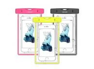 Husa Usams YD002 Waterproof pentru Telefon 6 inch, Dimensiuni interioare 170 x 90 mm, IPX8, Neagra, Blister 60FSD01