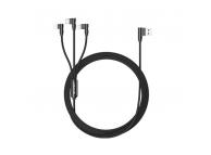 Cablu Incarcare USB la Lightning - USB la MicroUSB - USB la USB Type-C Usams 3in1, U10, SJ242USB01 (US-SJ242), 1.2 m, Negru, Blister