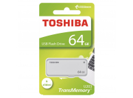 Memorie Externa Toshiba U203, USB 2.0, 64Gb, Alba, Blister THN-U203W0640E4