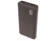 Baterie Externa Powerbank Setty 10000 mA, 2 x USB, Neagra, Blister