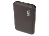 Baterie Externa Powerbank Setty 5000 mA, 2 x USB, Neagra, Blister
