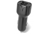 Incarcator Auto USB Setty 2.4A, 2 X USB, Negru, Blister