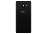 Capac Baterie Negru cu geam camera blitz si senzor amprenta, Swap Samsung Galaxy A8 (2018) A530