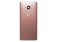 Capac Baterie Roz cu geam camera blitz si senzor amprenta, Swap Samsung Galaxy S8 G950