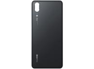 Capac Baterie Negru cu geam blitz, Swap Huawei P20