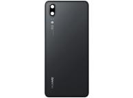 Capac Baterie Negru cu geam camera blitz, Swap Huawei P20