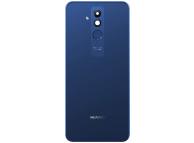 Capac Baterie Albastru cu geam camera blitz si senzor amprenta, Swap Huawei Mate 20 Lite