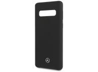 Husa TPU MERCEDES pentru Samsung Galaxy S10 G973, Neagra, Blister MEHCS10SILBK