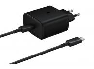 Incarcator Retea cu cablu USB Tip-C Samsung PD 45W Fast, 1 X USB, Negru, Blister EP-TA845XBEGWW