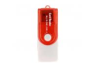 Cititor card CR02, MicroSD/SD/MiniSD/MMC, Rosu Blister