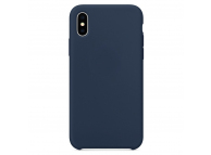 Husa TPU OEM Pure Silicone pentru Apple iPhone XS Max, Bleumarin, Blister