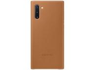 Husa Piele Samsung Galaxy Note 10 N970 / Samsung Galaxy Note 10 5G N971, Leather Cover, Camel EF-VN970LAEGWW
