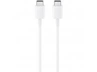 Cablu Date si Incarcare USB Type-C la USB Type-C Samsung EP-DA705, 3A, 1 m, Alb, Blister EP-DA705BWEGWW