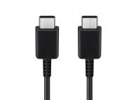 Cablu Date si Incarcare USB Type-C la USB Type-C Samsung EP-DA705, 3A, 1 m, Negru, Blister EP-DA705BBEGWW