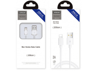 Cablu Date si Incarcare USB la Lightning Joyroom JR-S113, Ben Series, 2A, Quick Charging, 2 m, Alb, Blister
