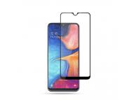 Folie Protectie Ecran Mocolo pentru Samsung Galaxy A20e, Sticla securizata, Full Face, Full Glue, 0.33mm, 9H,2.5D, Set 2 buc, Neagra, Blister
