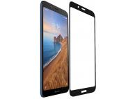 Folie Protectie Ecran OEM Xiaomi Redmi 7A, Sticla securizata, Full Face, Full Glue, 9H, Neagra, Blister