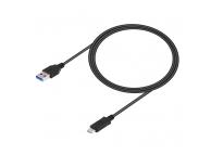 Cablu Date si Incarcare USB la USB Type-C OEM, 1 m, Negru, Bulk