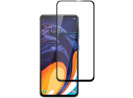 Folie Protectie Ecran Mocolo pentru Samsung Galaxy M40 / Samsung Galaxy A60, Sticla securizata, Full Face, Full Glue, 0.33mm, 2.5D, Set 2 buc., Neagra, Blister