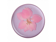 Suport Stand Adeziv Popsockets PopGrip Premium pentru telefon, Pressed Flower Delphinium Pink, Blister Original