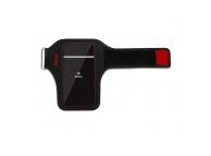 Husa Sport Baseus Wristband pentru telefoane 5 inci, Neagra Rosie, Blister CWYD-A09