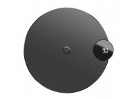 Incarcator Retea Wireless Baseus cu Afisaj LED, Qi + cablu USB 1.2m, Negru, Blister WXSX-01