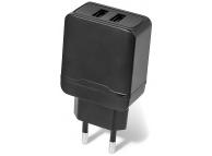 Incarcator Retea USB MaXlife MXTC-02, Fast Charge, 2 X USB, Negru, Blister