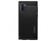 Husa TPU Spigen Rugged Armor pentru Samsung Galaxy Note 10 N970, Neagra, Blister 628CS27374