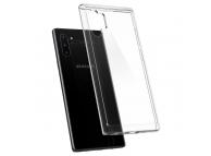 Husa Plastic - TPU Spigen Crystal Hybrid pentru Samsung Galaxy Note 10+ N975, Transparenta, Blister 627CS27366