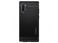 Husa TPU Spigen Rugged Armor pentru Samsung Galaxy Note 10+ N975, Neagra, Blister 627CS27331