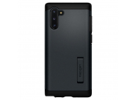 Husa Plastic - TPU Spigen Slim Armor pentru Samsung Galaxy Note 10 N970, Metal Slate, Neagra, Blister 628CS27541