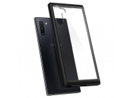 Husa Plastic - TPU Spigen Ultra Hybrid pentru Samsung Galaxy Note 10 N970, Neagra - Transparenta, Blister 628CS27376