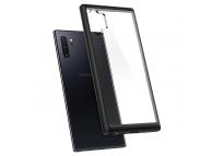 Husa Plastic - TPU Spigen Ultra Hybrid pentru Samsung Galaxy Note 10+ N975, Neagra - Transparenta, Blister 627CS27333