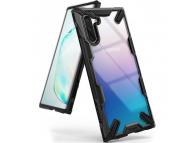Husa Plastic - TPU Ringke Fusion X pentru Samsung Galaxy Note 10 N970, Neagra - Transparenta, Blister FUSG0027