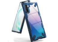 Husa Plastic - TPU Ringke Fusion X pentru Samsung Galaxy Note 10 N970, Albastra - Transparenta, Blister FUSG0028