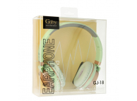 Handsfree Casti On-Ear Gjby EXTRA BASS, GJ-18, Cu microfon, 3.5 mm, Verde, Blister