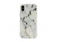Husa TPU Vennus Marble Stone pentru Samsung Galaxy A10 A105, Alba - Neagra, Blister