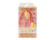 Handsfree Casti On-Ear CASNI CS12, Cu microfon, 3.5 mm, Roz, Blister