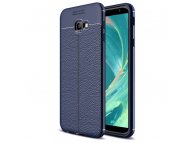 Husa TPU OEM Litchi pentru Samsung Galaxy J3 (2018) J377, Bleumarin, Bulk